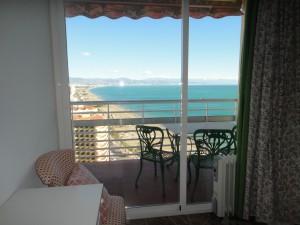 Vistas desde un dormitorio de lado de Málaga.